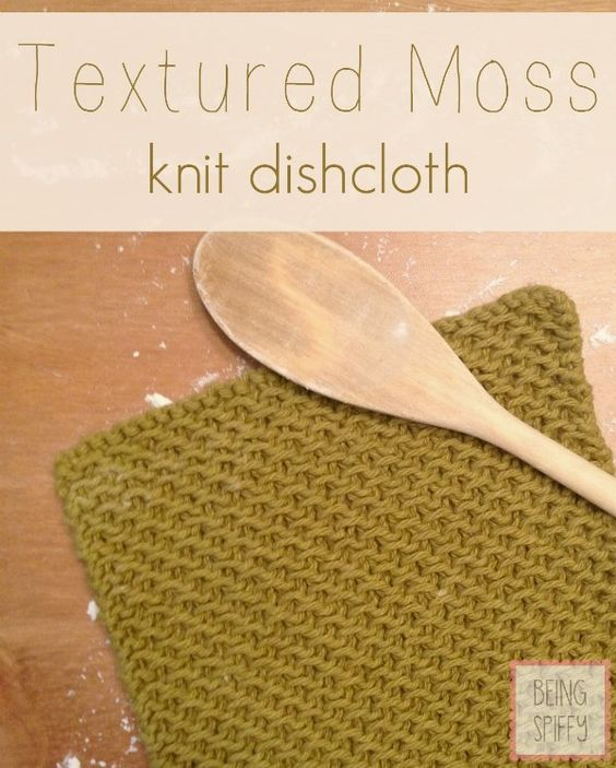 Knitted Moss Stitch Dishcloth Pattern : Pinterest   The world s catalog of ideas