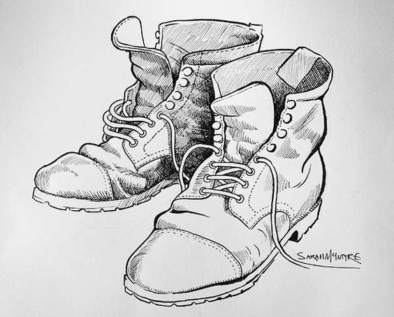 Line Drawing Shoes : Line drawing of old shoes google search cards male