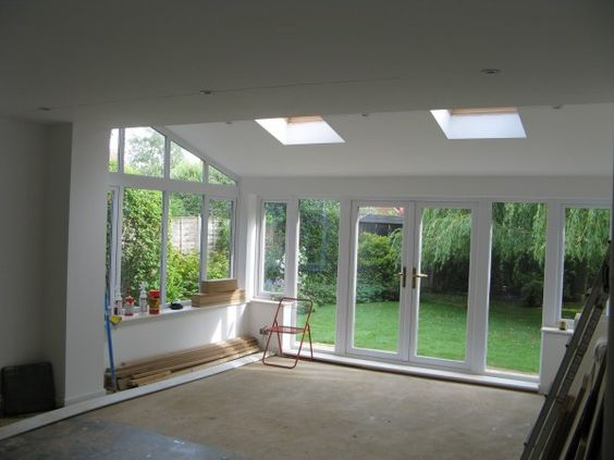 Summer room within rear extension progressing nicely for Small house extension design
