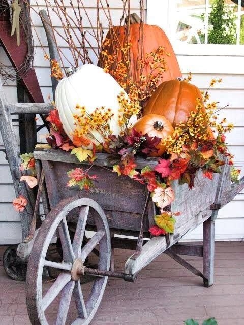Love How This Little Wheel Barrel Is Decorated......