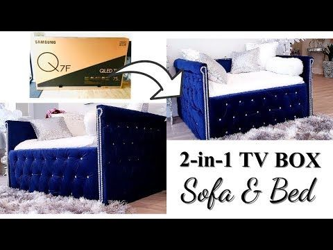 How To Use Tv Boxes To Make A 2 In 1 Sofa Bed With Storage Youtube Sofa Bed With Storage Bed Storage Diy Sofa Bed