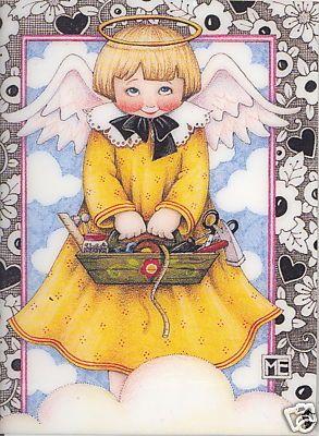 Mary Engelbreit. Angel in yellow.