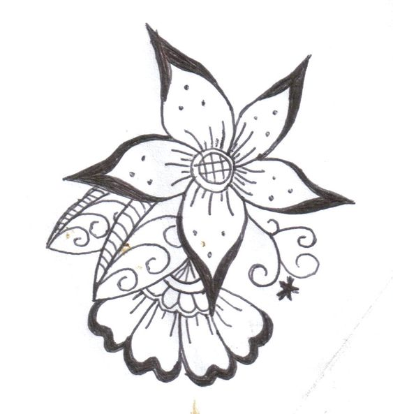 henna the flowers and how to draw on pinterest