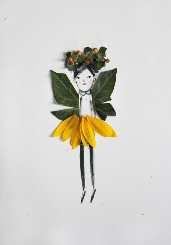 Decorar dibujos con naturaleza | Kireei, cosas bellas: