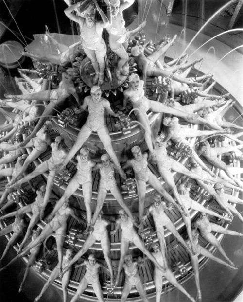 """Footlight Parade's """"By the Waterfall"""" sequence (1933, dir. Lloyd Bacon, choreographed by Busby Berkeley).S)"""
