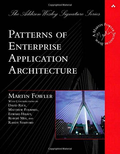 Patterns of Enterprise Application Architecture by Martin Fowler http://www.amazon.com/dp/0321127420/ref=cm_sw_r_pi_dp_PxBcvb04XAH1H