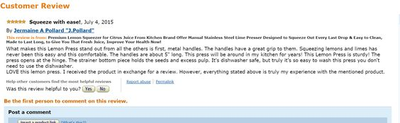 cool review on lemon press
