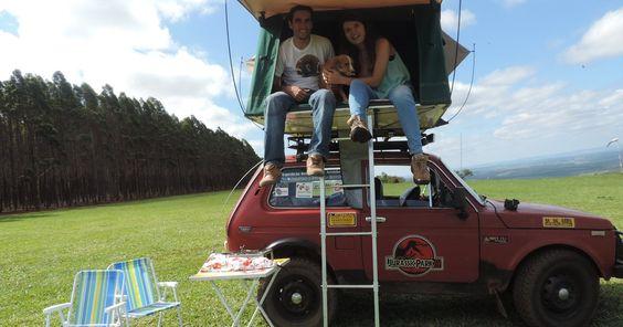 De jipe, casal vai percorrer 4 mil km para divulgar o amor pelos animais