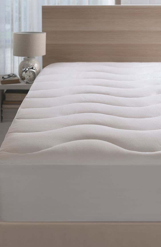 Climarest Coolmax Mattress Pad Size Full White In 2020 Mattress Pad Mattress Mattress On Floor