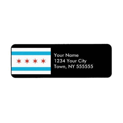 Chicago Flag Label Zazzle Com Chicago Flag Labels Custom Gift Tags
