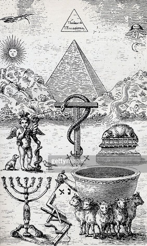 High Degree Symbols From the book The Freemason by Eugen Lennhoff... News Photo | Getty Images: