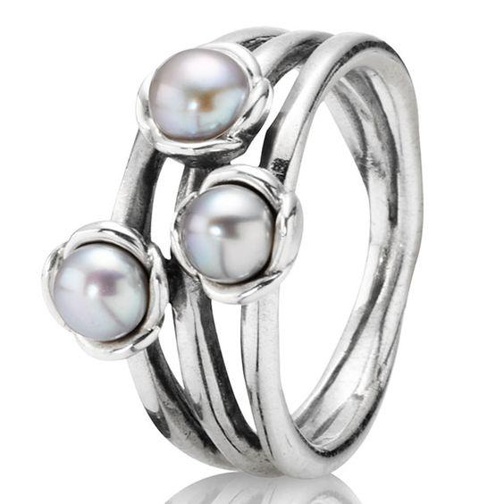 Pandora Grey Pearl Earrings: Grey, Pandora And Pearl Rings On Pinterest