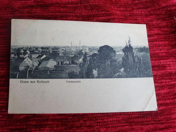 alte AK Roitzsch b. Brehna Bitterfeld  um 1914 gelaufen Totalansicht