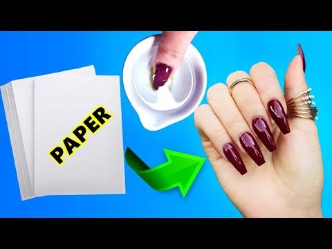 How To Make Waterproof Fake Nails From Paper In 5 Minutes Nail Hack You Will Not Believe Youtube In 2020 Fake Nails Fake Nails Diy Nail Tips