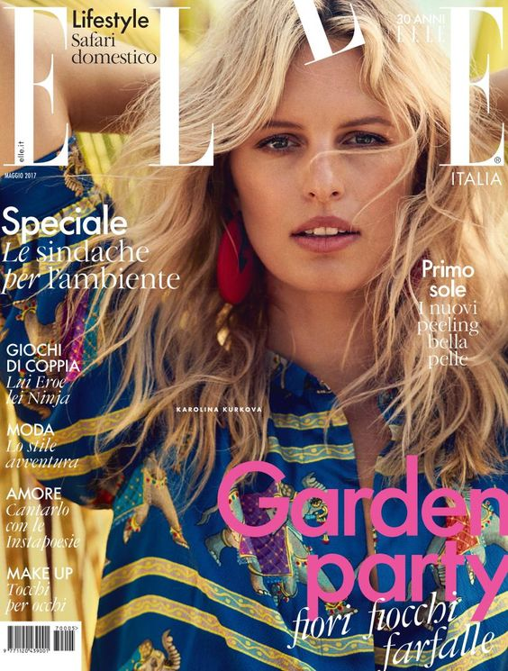 Karolina Kurkova - Elle Italy, May 2017: