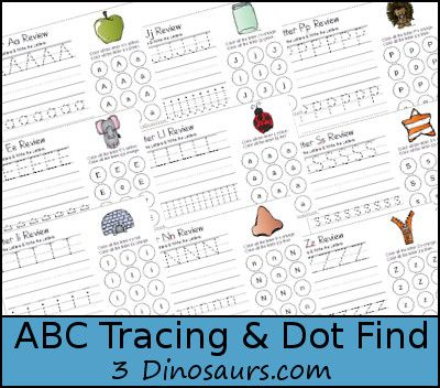 Free ABC Tracing & Dot Find Printable - Tracing, Writing & dot ...