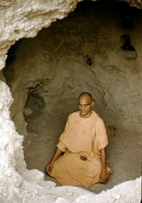 Indian monk in a cave near Gangtok | Monk, Hermitage, Hermit