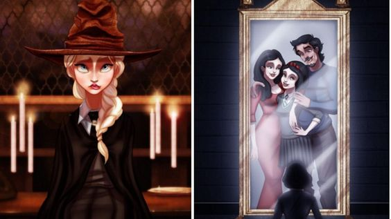 Disney Characters Reimagined As Students At Hogwarts Will Be Your New Favorite Thing - MTV