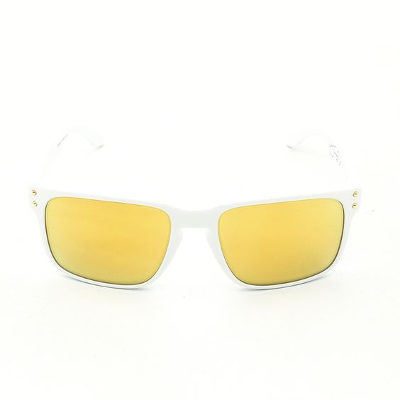 Oakley OO9102 Shaun White Signature Series Holbrook Sunglasses Col. 18 Polished White with 24K Iridium Lenses - Theaspecs.com