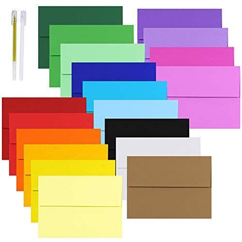 Supla 19 Colors 4x6 Envelopes A6 Envelopes Self Seal Invitation Envelopes 4x6 Greeting Cards Blank Enve Greeting Card Envelope Blank Cards Invitation Envelopes