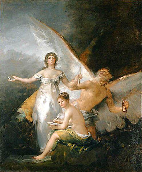 Francisco de Goya - Alegoría de la Verdad, el Tiempo y la Historia