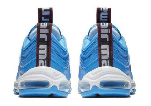 New Nike Men S Air Max 97 Premium Shoes 312834 401 Blue Hero