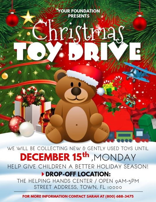 Christmas Toy Drive Flyers Christmas Toy Drive Flyer Toy Drive Christmas Toy Drive