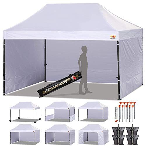 Abccanopy Canopy Tent 10 X 15 Pop Up Canopies Commercial Tents Market Stall With 4 Removable Sidewalls And Roller Pop Up Canopy Tent Canopy Tent Canopy Outdoor