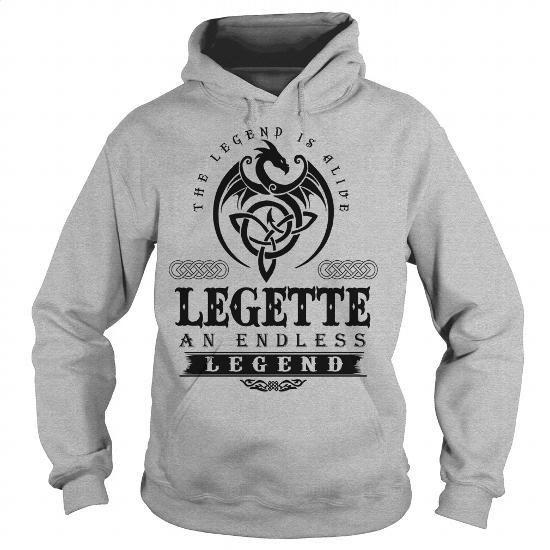 [gift for him,novio gift] LEGETTE - #gift ideas for him. HURRY => https://www.sunfrog.com/Names/LEGETTE-109012533-Sports-Grey-Hoodie.html?id=68278