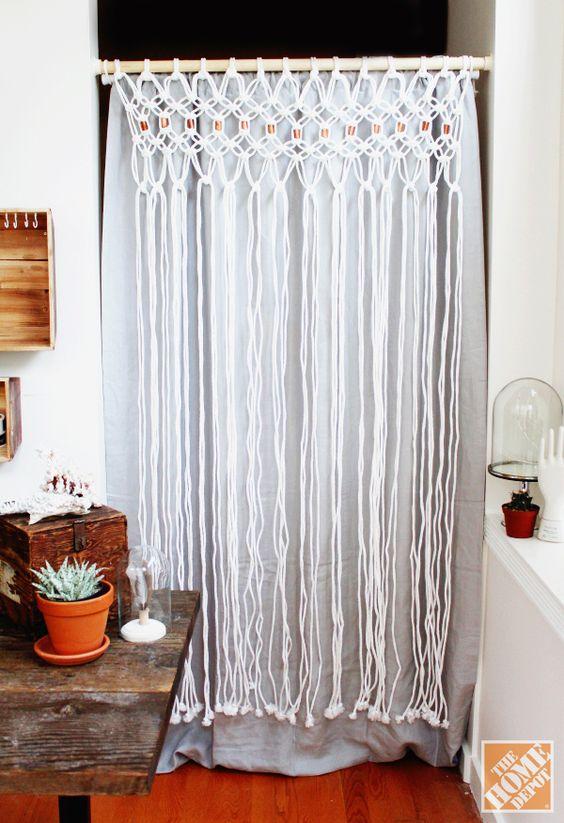 Curtains Ideas curtains home depot : How to Macrame a Room Divider - The Home Depot | Copper, Doors and ...