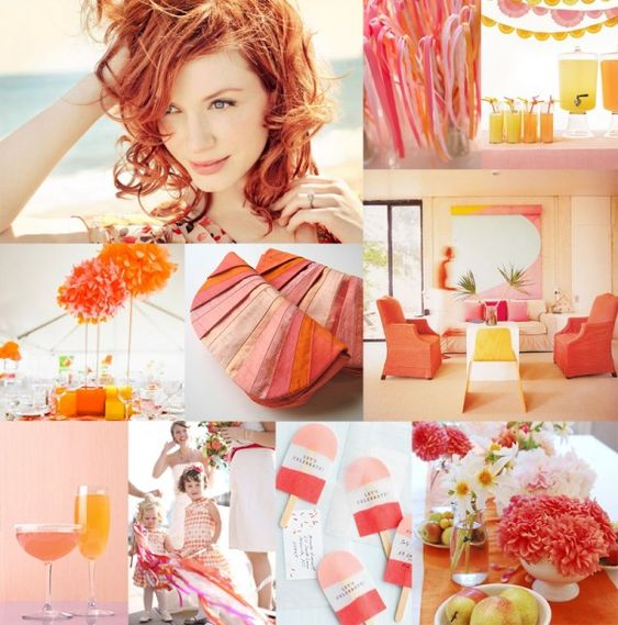 from elizabeth anne designs: tangerine, cotton candy and lemon