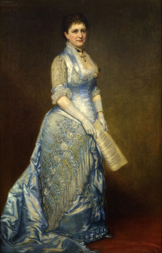 Emma Cecilia Thursby (1879). George Peter Alexander Healy (American, 1813-1894), Oil on canvas. New-York Historical Society. Healy painted the Brooklyn-born concert singer Emma Cecilia Thursby...: