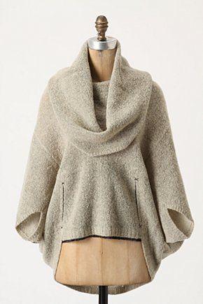grey cowlneck pullover