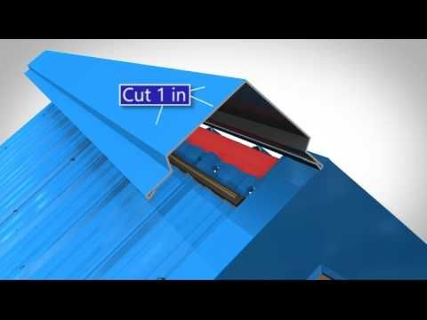 How To Install Metal Roof Rake Trim For Union S Masterrib Panel Youtube Roofing Supplies Metal Roof Roofing
