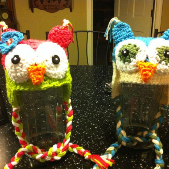 Baby owl hats