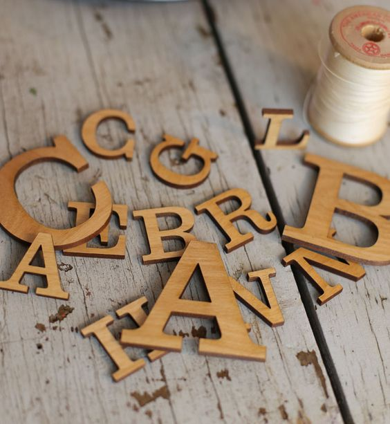 pre finished alder wood letters craftcutscom choose With finished wooden letters