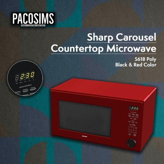 Paco Sims Sharp Carousel Microwave Decor Sims 4 Sims