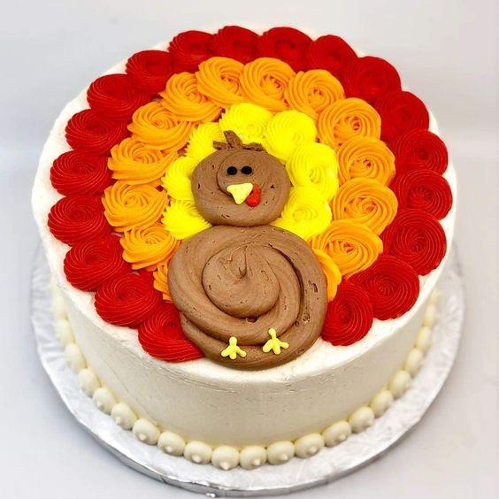 Thanksgiving Cake Decorating- Turkey
