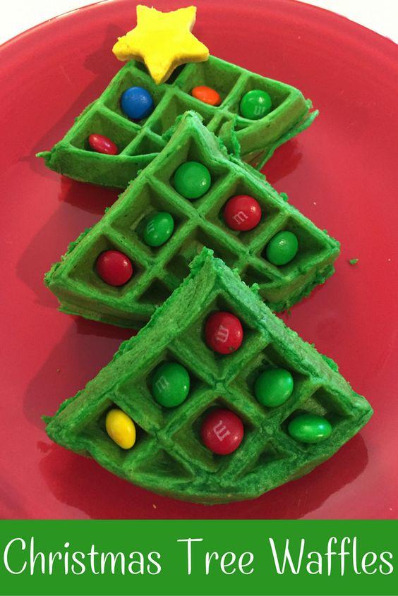 Christmas morning waffles breakfast idea | simple | fun | kid friendly: