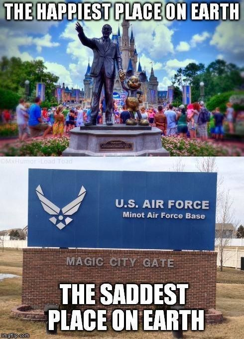 Only the Air Force would think their base is supposed to be as good as a theme park (via Air Force Nation).
