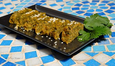 Steamed version of coriander fritters!