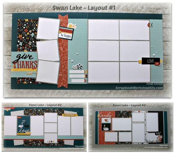 Scrapbooking Kits: Swan Lake 6-Page Scrapbook Kit - $23