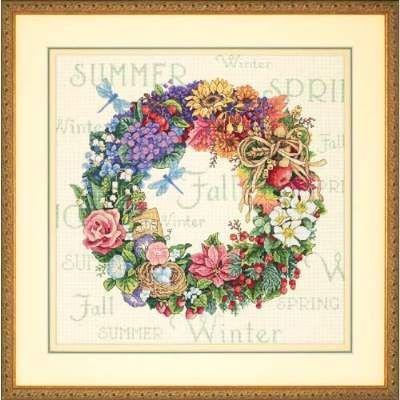 Dimensions Cross Stitch Patterns Free | Wreath of All Seasons by Dimensions - Cross Stitch Kits & Patterns
