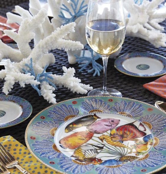 Luxe magazine, coastal table setting