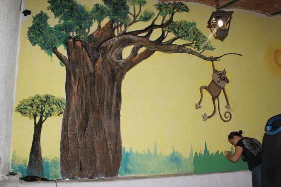 entrada al mural aun no terminado