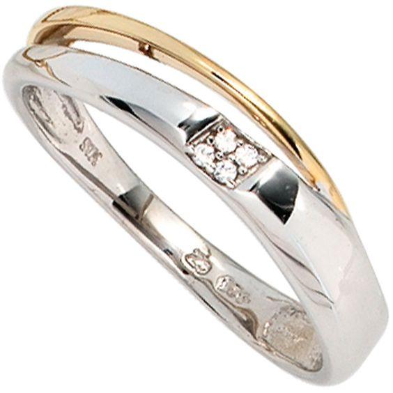 Damen Ring 585 Gold Weißgold Gelbgold 4 Diamanten Brillanten 0,02ct. A50520 58 http://www.ebay.de/itm/Damen-Ring-585-Gold-Weissgold-Gelbgold-4-Diamanten-Brillanten-0-02ct-A50520-58-/161841632418?ssPageName=STRK:MESE:IT