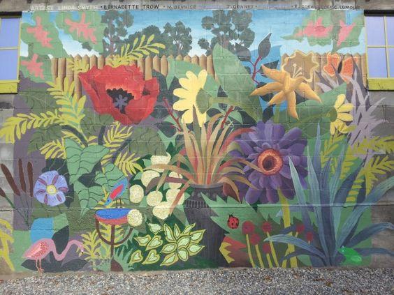 The Garden Murals   Bing Images   Backyard Wall Murals   Pinterest   Garden  Mural And Public Art