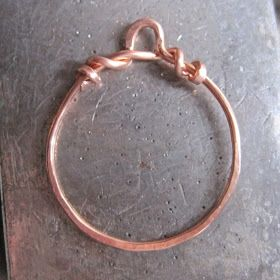 Love My Art Jewelry: boot camp - hoops  All with one wire tutorial