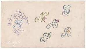 刺繍 図案 アルファベット - Google 検索