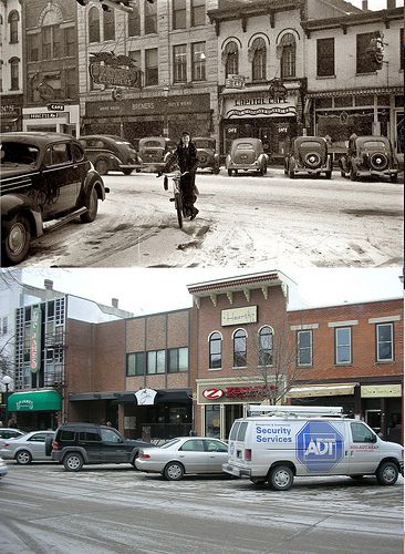 """Then and Now"" Iowa City"